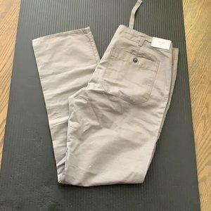 Gap Linen Utility Khaki Pants Grey 32x32